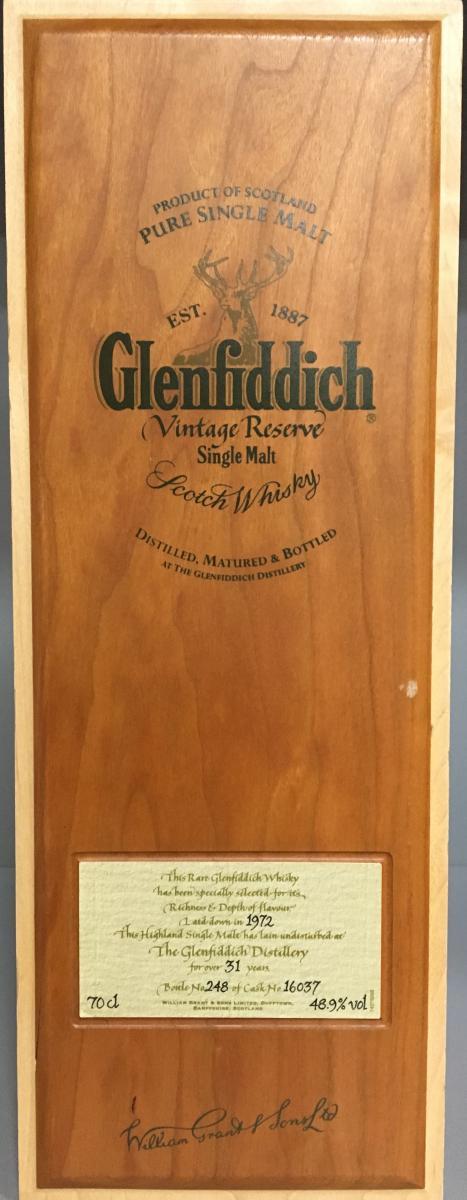 Glenfiddich 1972 Vintage Reserve