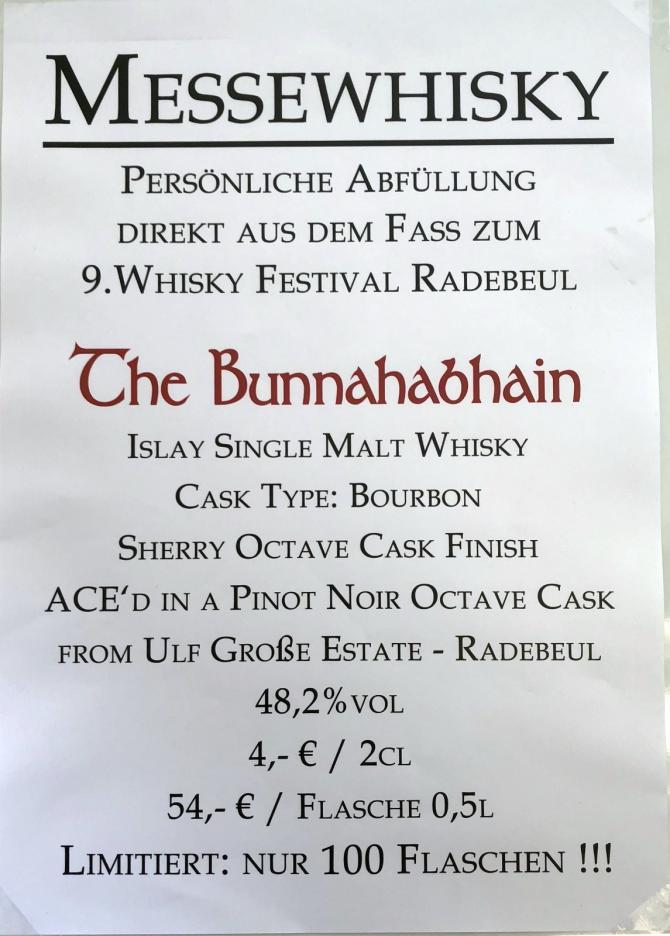 Bunnahabhain Radebeul 2018 WIRb