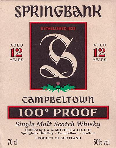Springbank 100° Proof