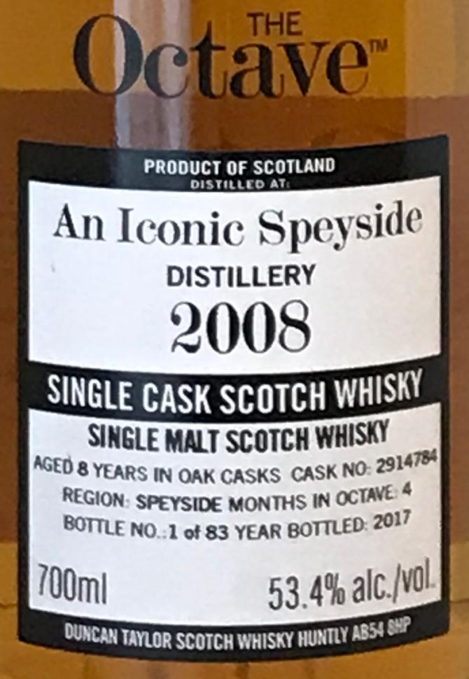 An Iconic Speyside Distillery 2008 DT