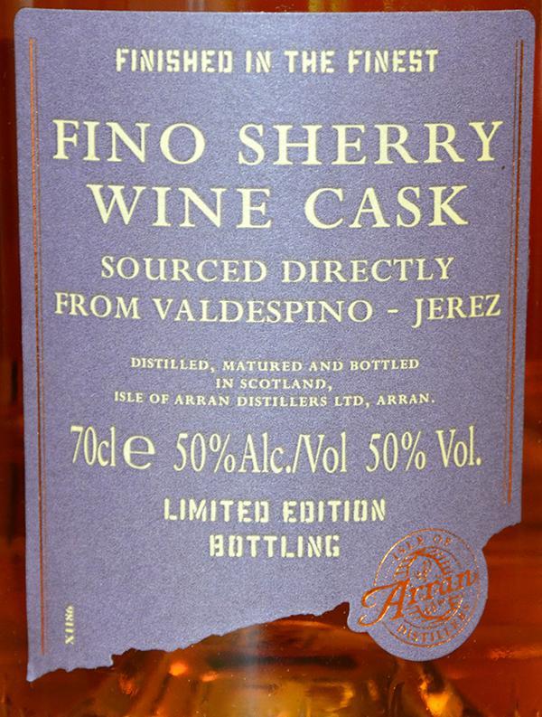 Arran Fino Sherry Wine Cask