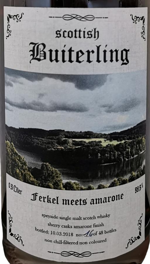 Scottish Buiterling Ferkel meets Amarone ScB