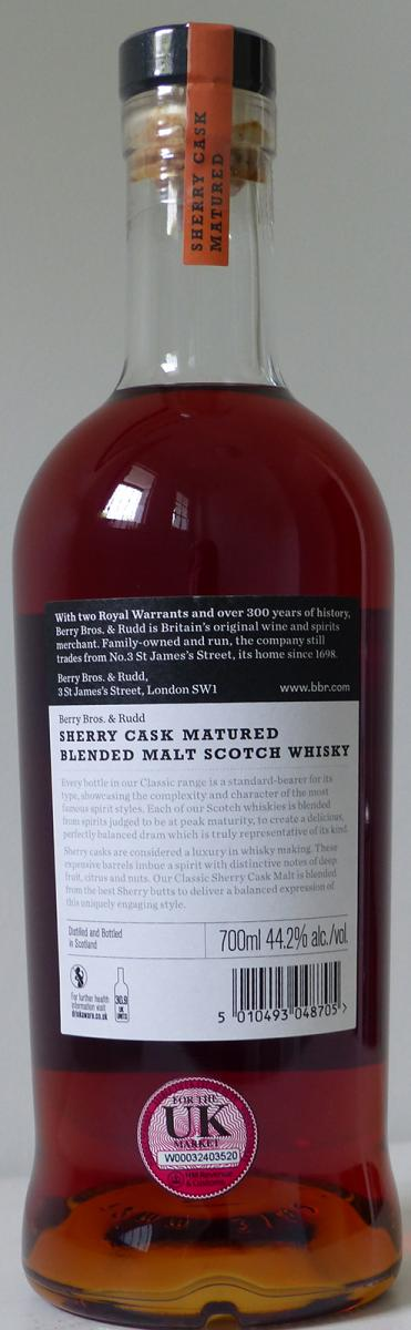 Blended Malt Scotch Whisky Sherry Cask Matured