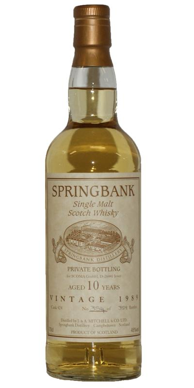 Springbank 1989 Private Bottling
