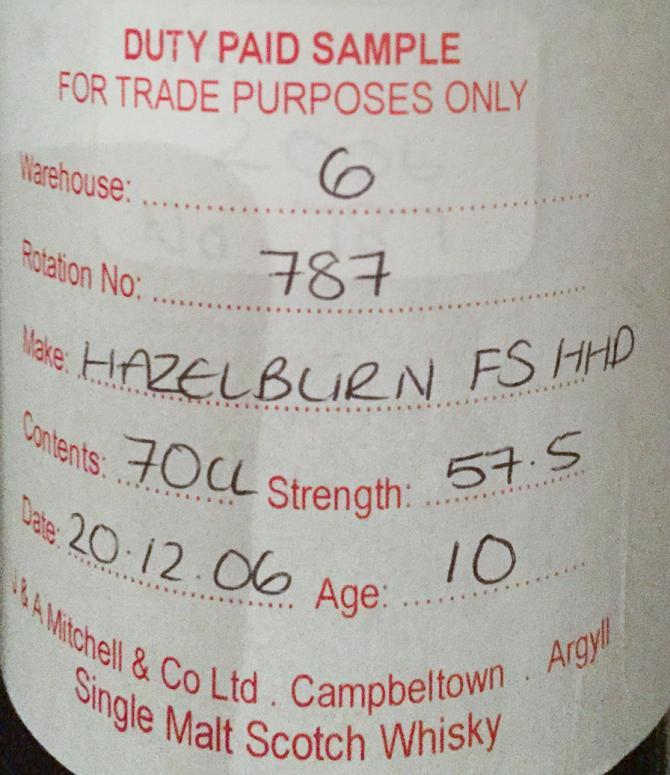 Hazelburn 2006