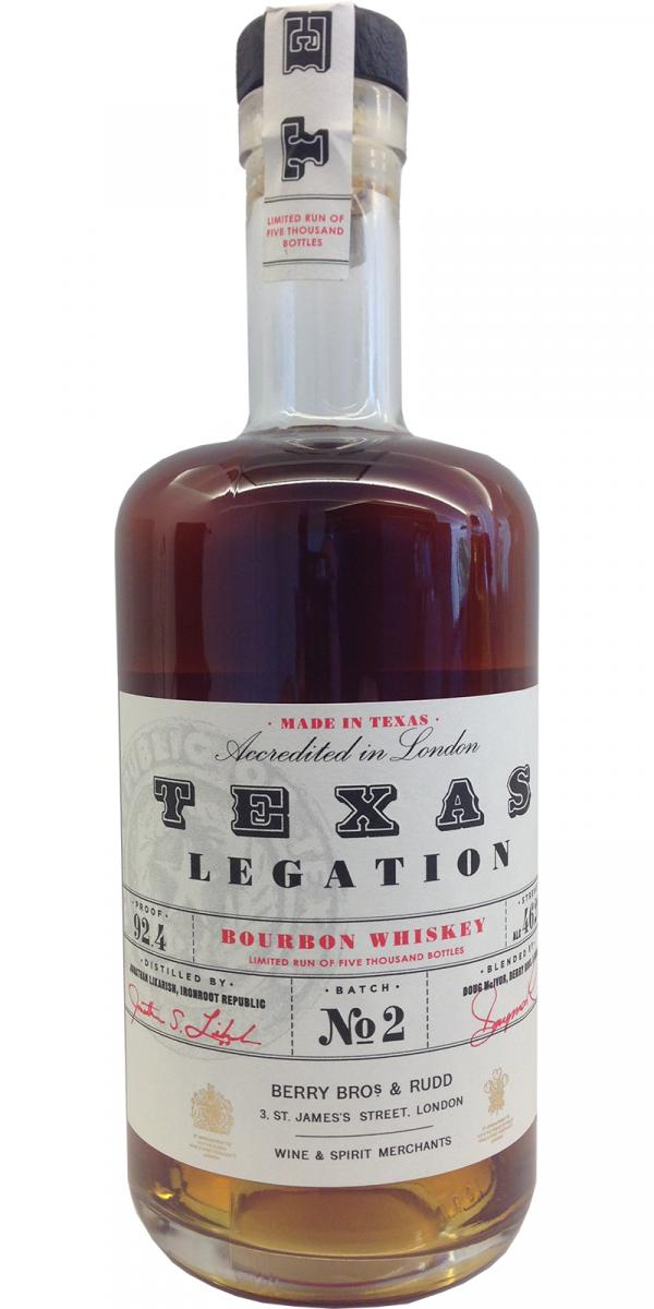 Texas Legation Bourbon Whiskey BR