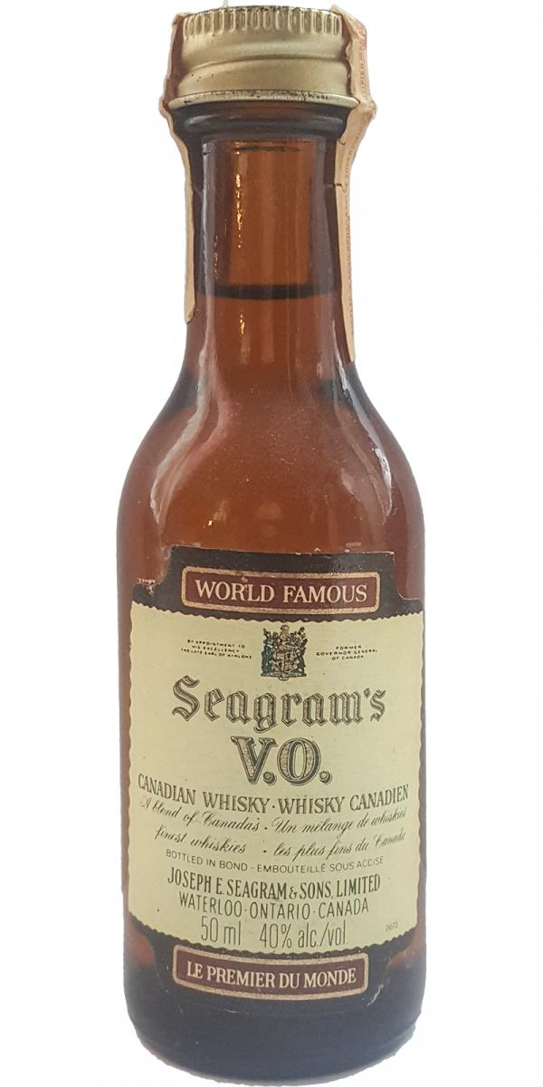 Seagram's V.O. Canadian Whisky - Whisky Canadien
