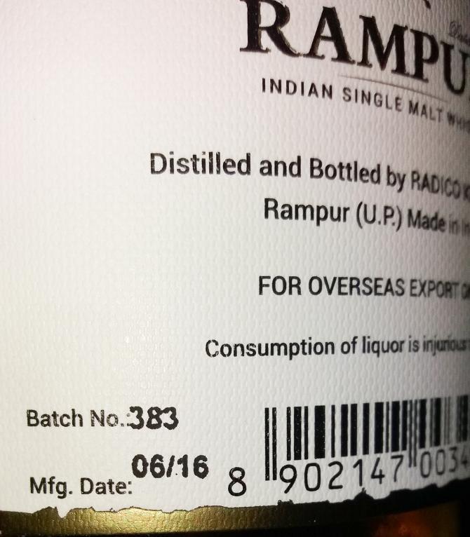 Rampur Vintage Select Casks