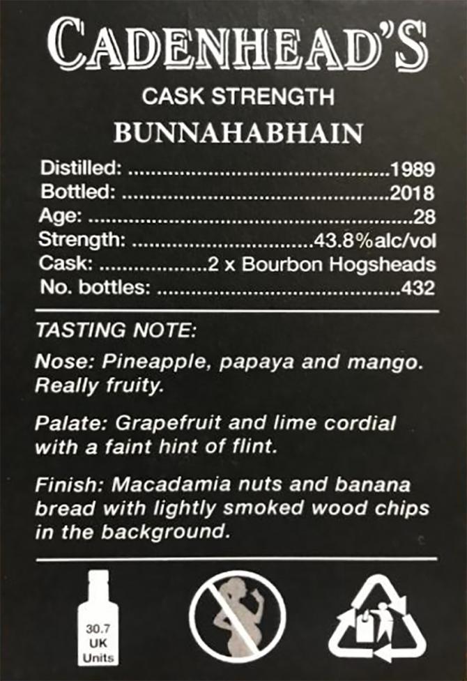 Bunnahabhain 1989 CA