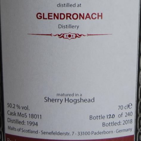 Glendronach 1994 MoS