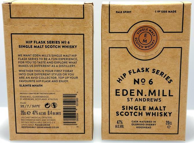Eden Mill Hip Flask Series No. 6