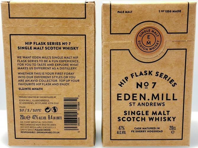 Eden Mill Hip Flask Series No. 7