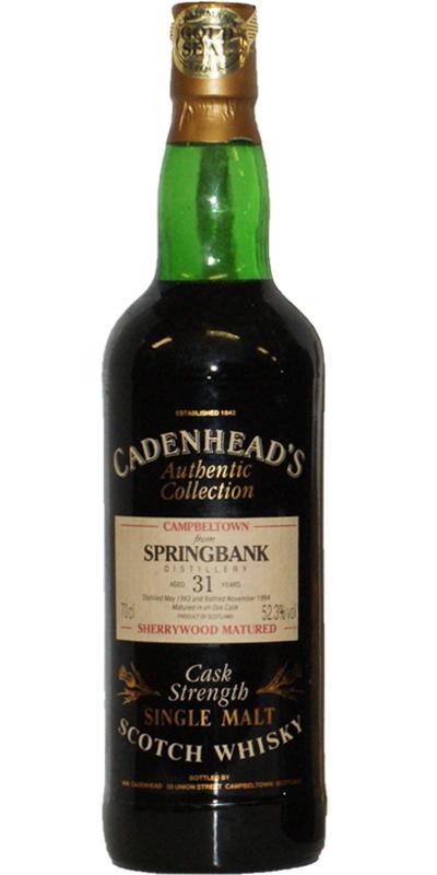 Springbank 1963 CA