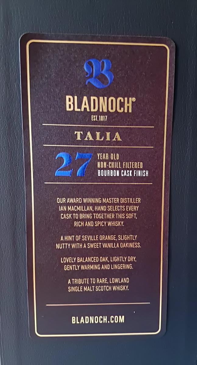 Bladnoch Talia