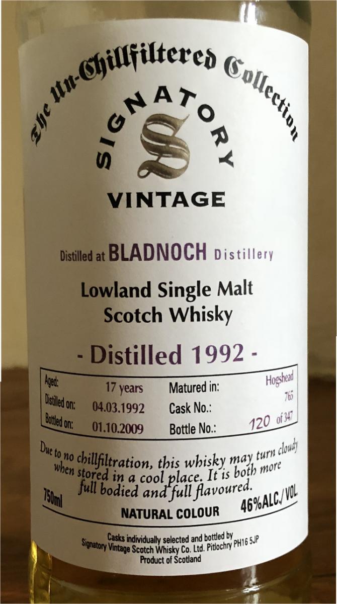 Bladnoch 1992 SV