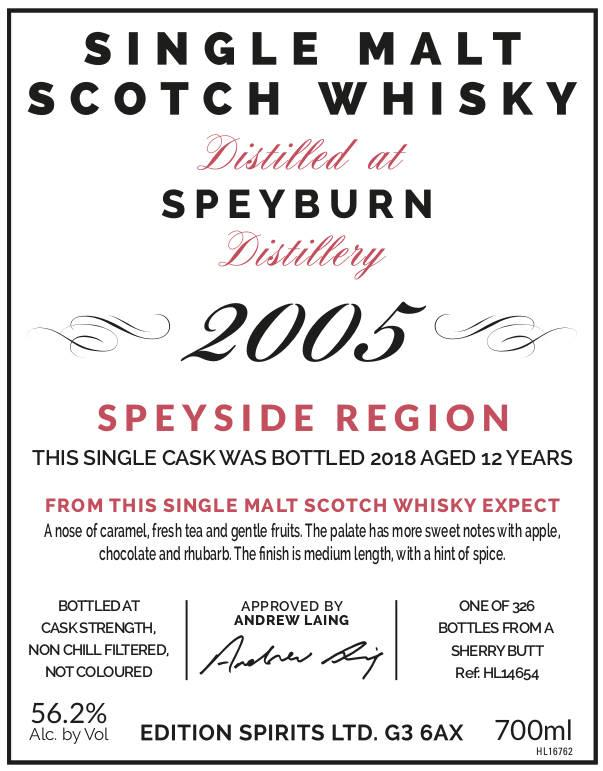 Speyburn 2005 ED