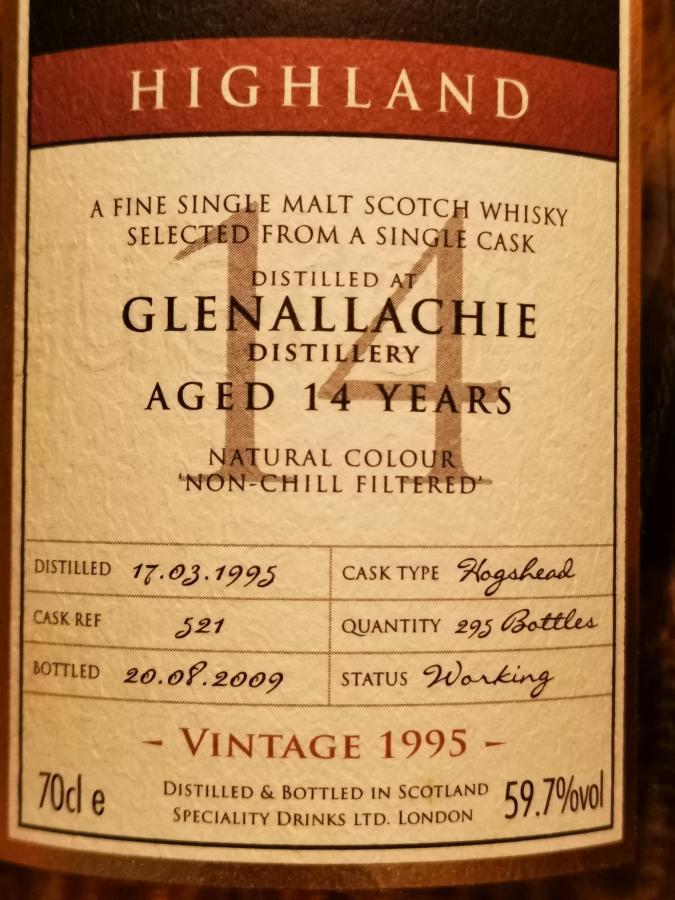 Glenallachie 1995 SMS