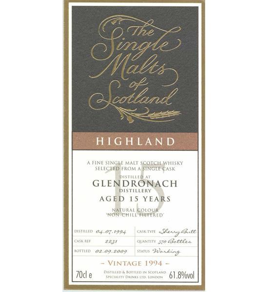 Glendronach 1994 SMS