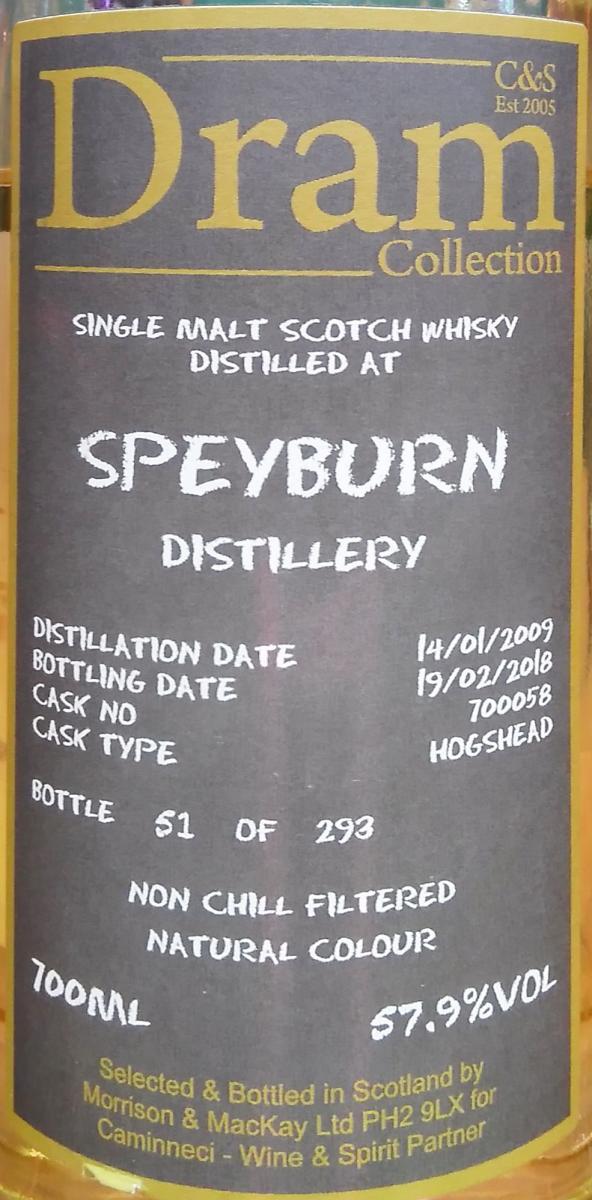 Speyburn 2009 C&S