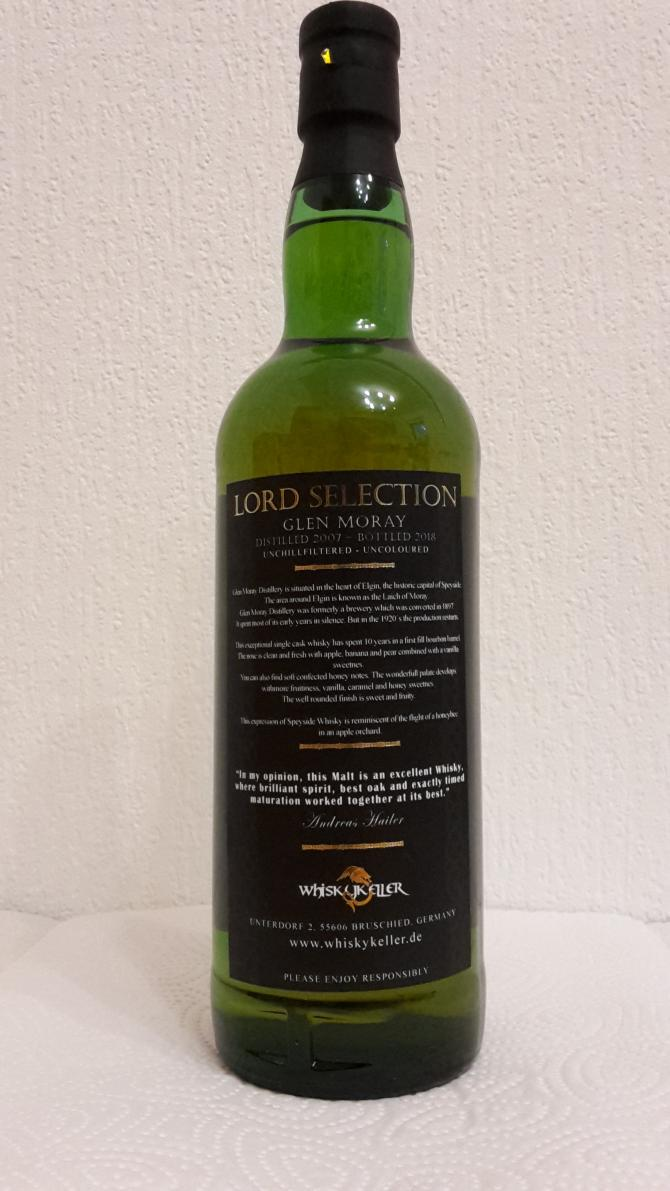 Glen Moray 2007 Whk