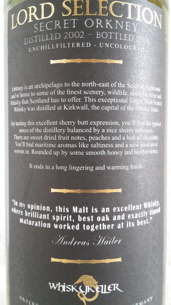 Lord of Orkney 2002 Whk