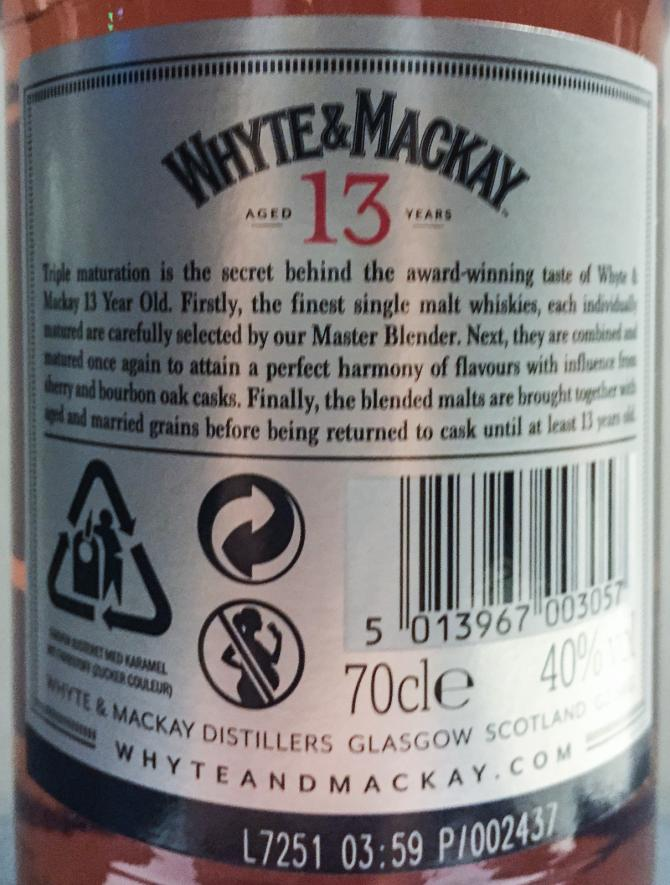 Whyte & Mackay 13-year-old W&M