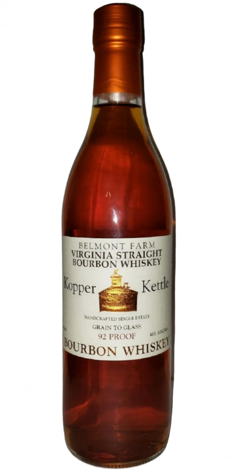 Kopper Kettle Virgina Straight Bourbon Whiskey
