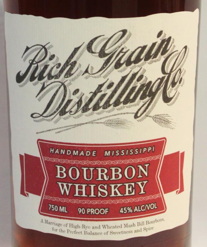 Rich Grain Distilling Co. Bourbon Whiskey