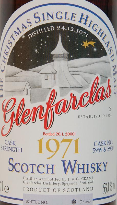 Glenfarclas 1971 Christmas Malt