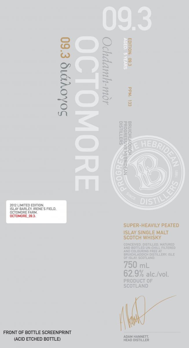 Octomore Edition 09.3 διάλογος / 133 PPM