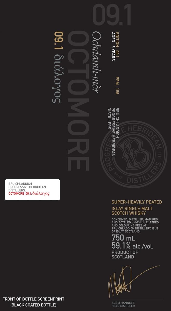 Octomore Edition 09.1 διάλογος / 156 PPM