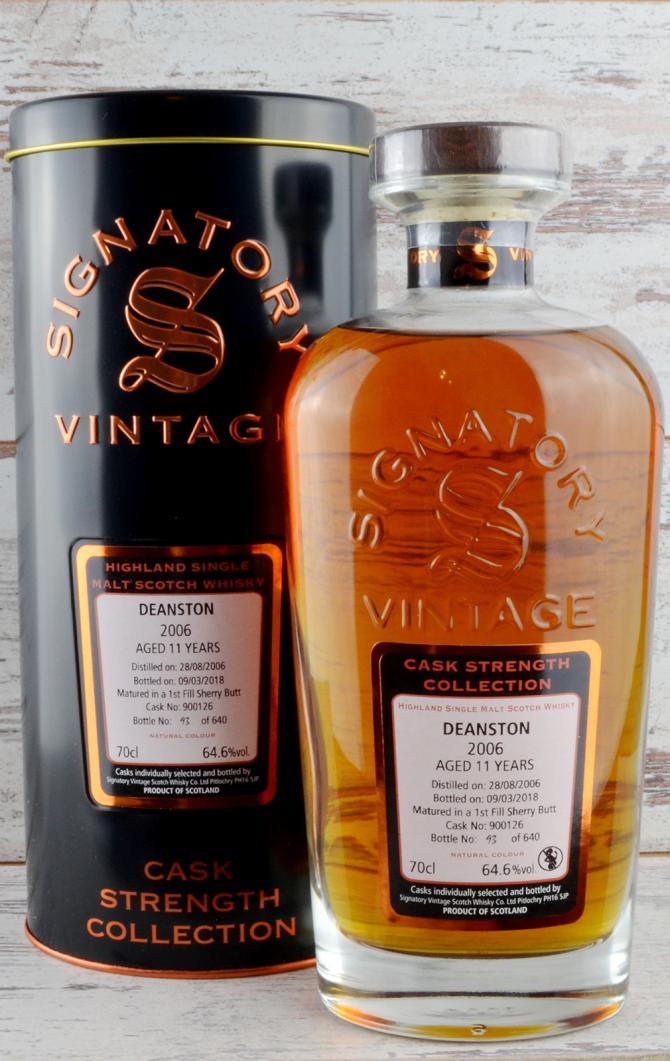 Bildergebnis für deanston 2006 signatory vintage