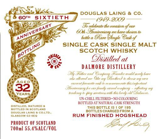 Dalmore 32-year-old DL