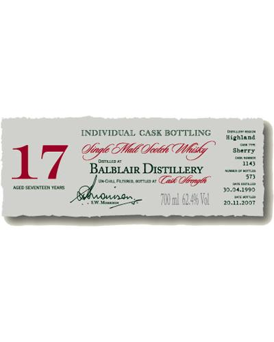 Balblair 1990 DR