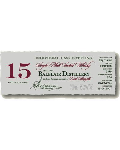 Balblair 1991 DR