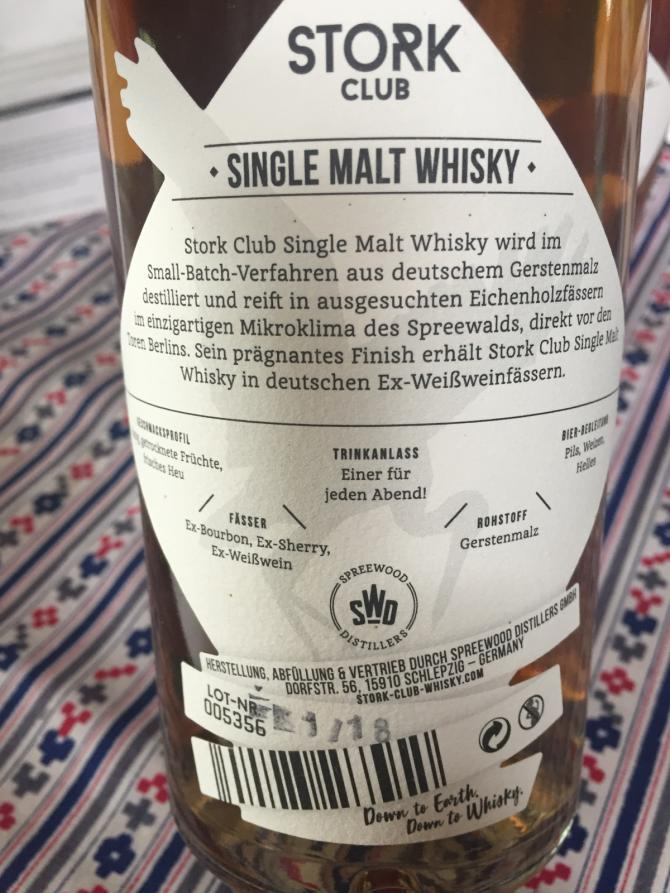 Stork Club Single Malt Whisky