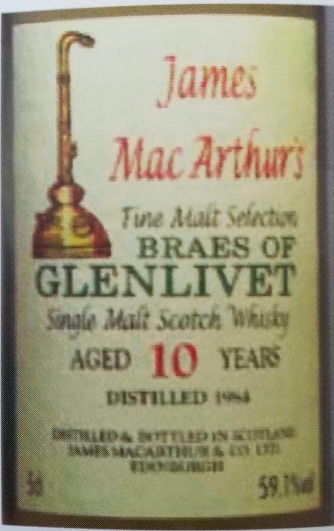 Braes of Glenlivet 1984 JM