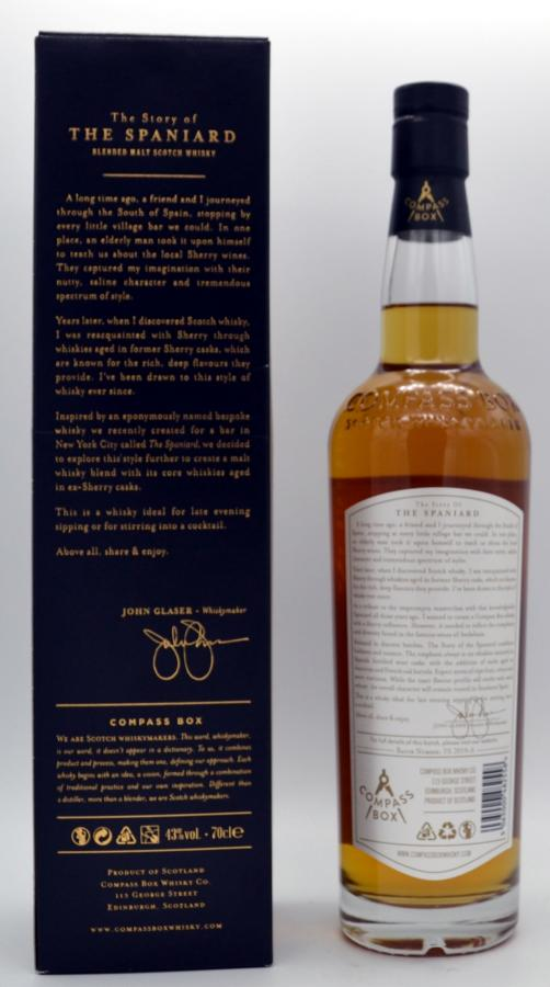 The Story of the Spaniard Blended Malt Scotch Whisky
