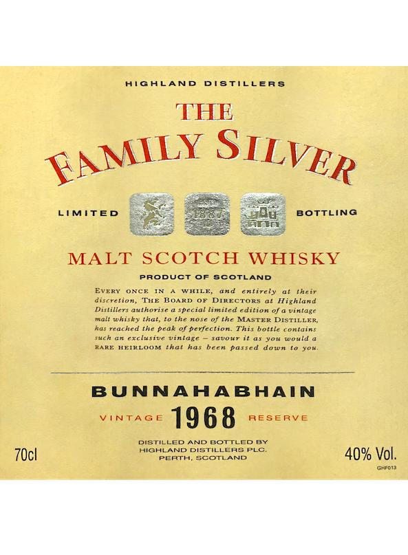 Bunnahabhain 1968 The Family Silver