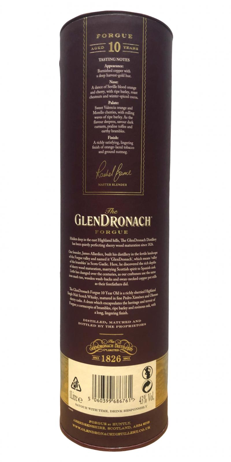 Glendronach 10-year-old Forgue