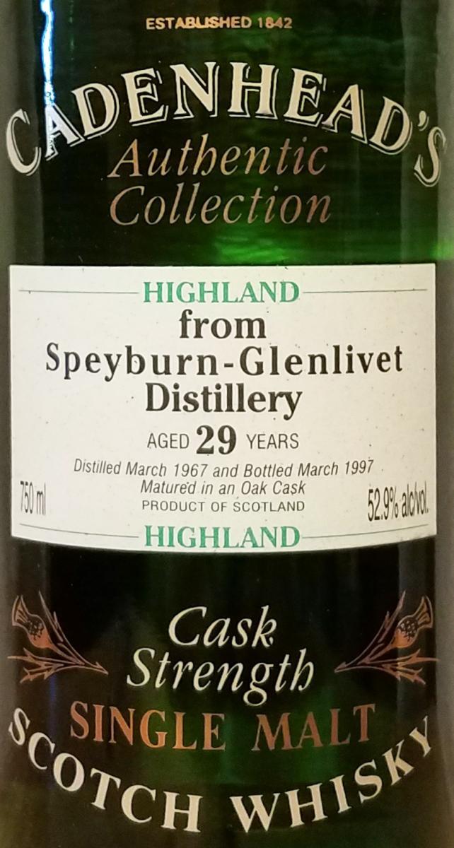 Speyburn 1967 CA