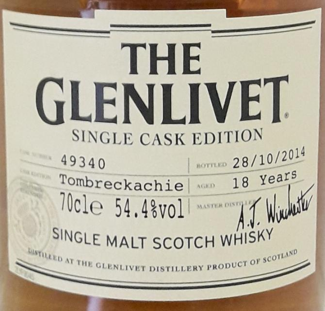 Glenlivet 18-year-old - Tombreckachie