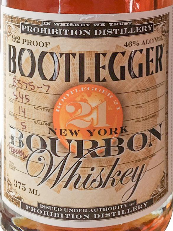 Bootlegger 21 New York Bourbon