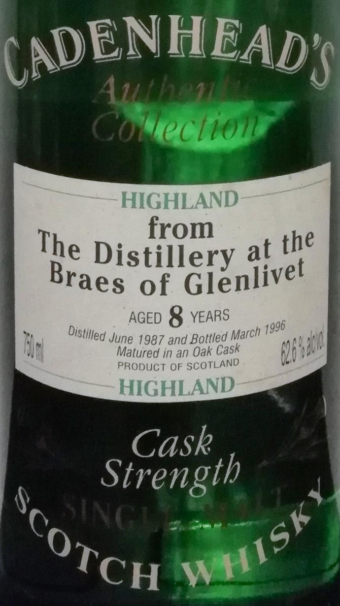 Braes of Glenlivet 1987 CA