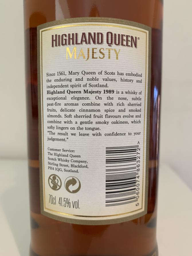 Highland Queen 1989 Islay HQSW