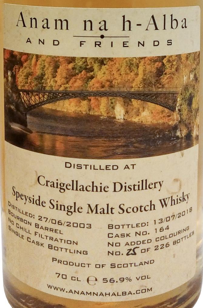 Craigellachie 2003 ANHA