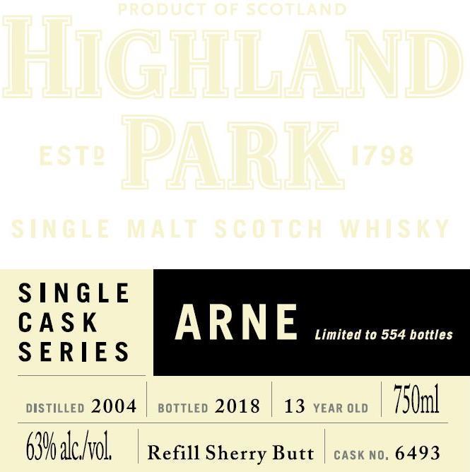 Highland Park 2004 - Arne