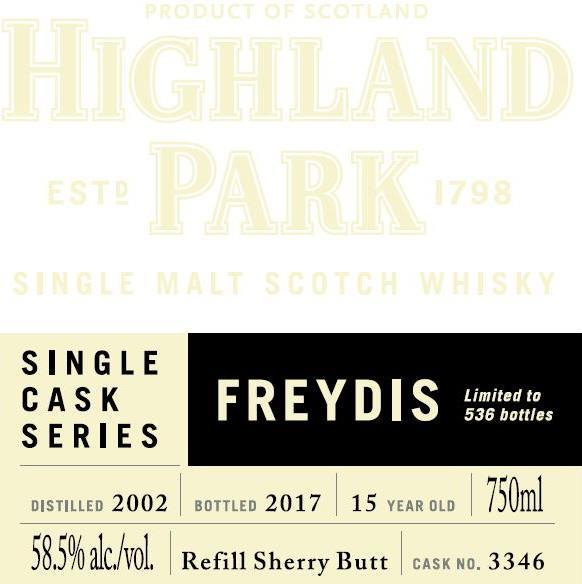 Highland Park 2002 - Freydis