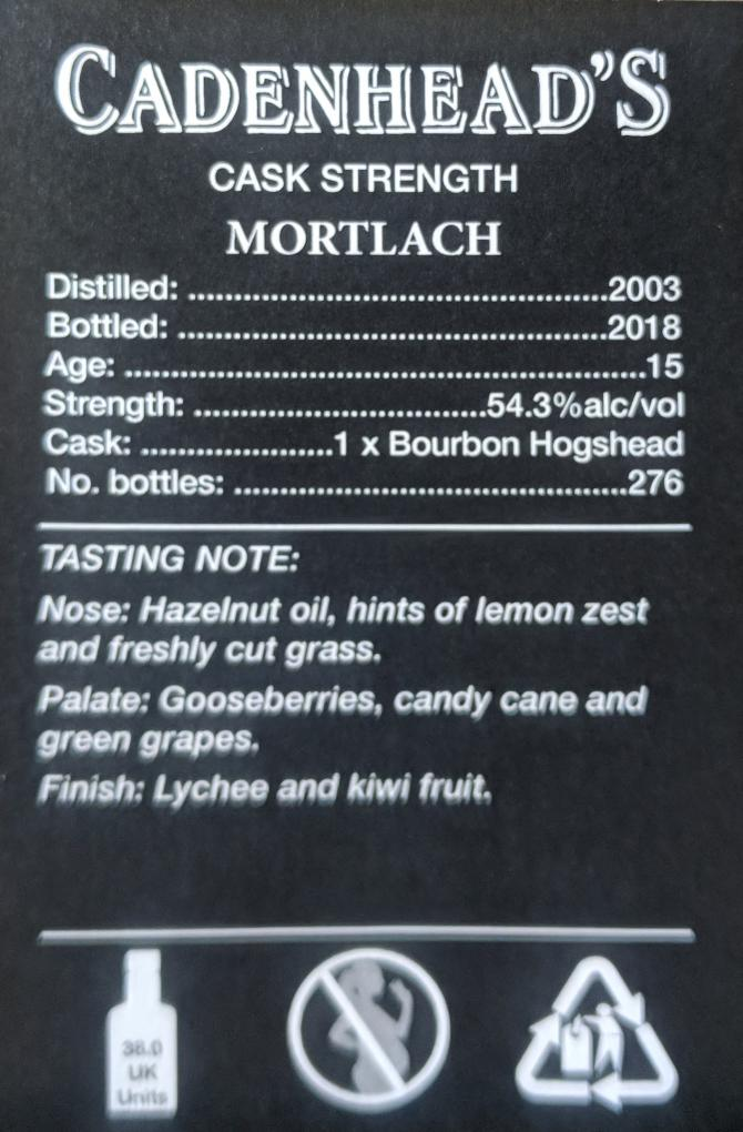 Mortlach 2003 CA