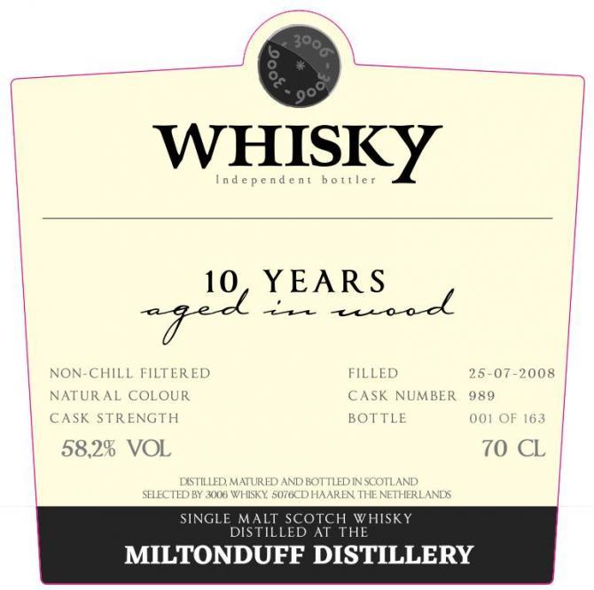Miltonduff 2008 3W